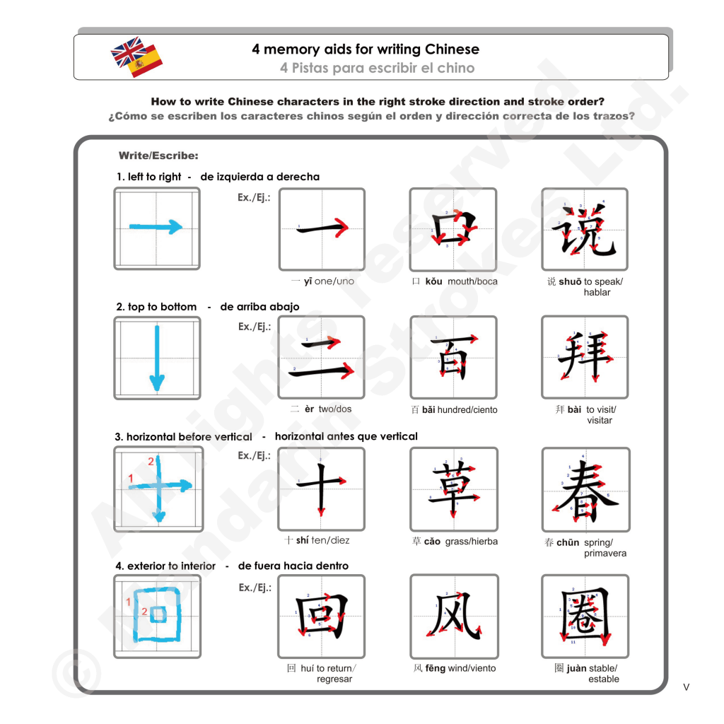 Colored Version M Strokes Exercise Book For Chinese Simplified